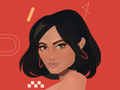 Red red simple geometry editorial illustration vector illustraion editorial art editorial characterdesign character flat illustration flat