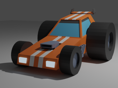 LowPolyDragster low poly illustration