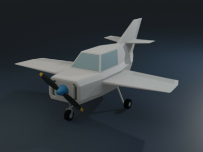 Low poly airplane 3d art low poly blender3d