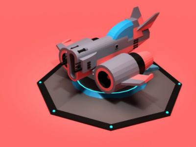 SN500 render low poly illustration game asset dieselpunk concept blender3d aviation asset forge airplane 3d art