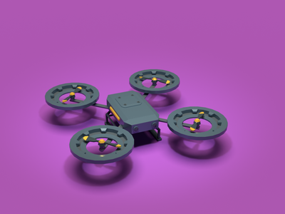 Asset Forge Daily build: QuadCopter drone quadcopter render 3d art blender3d asset forge illustration low poly