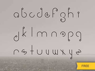 Signale Free Font line circle free font modern retro