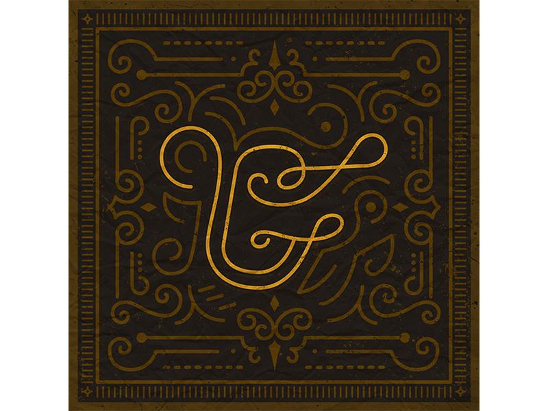 "26 Days of Type ""G"" gold dark ornamental typefight letter type g"