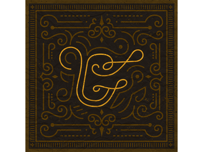 "26 Days of Type ""G"" gold dark ornamental typefight letter type g"