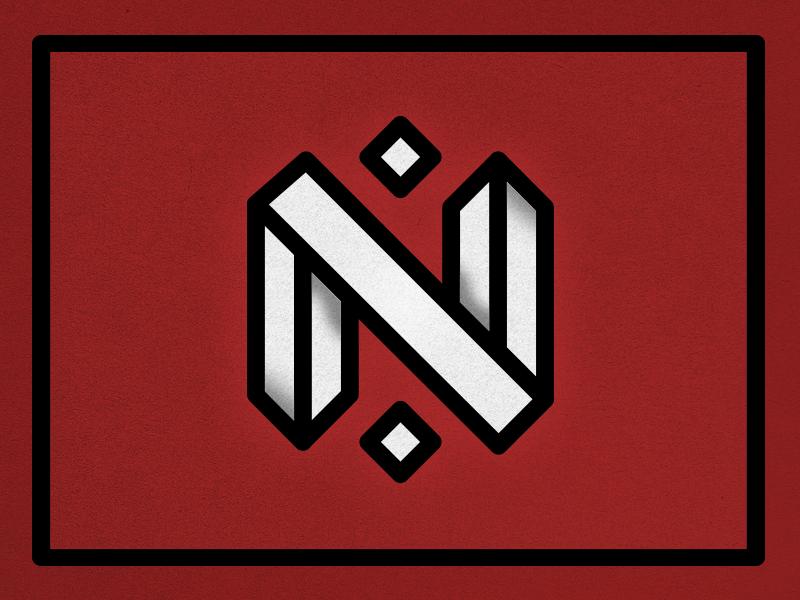 "26 Days of Type ""N"" retro wine red grunge days typefight letter type n"