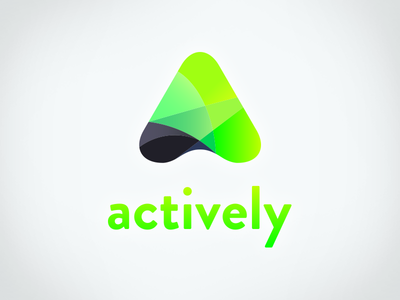 Actively Branding neon north logo isotype letter gradient sport active