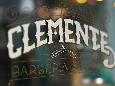 Clemente Branding branding barber barbershop logo