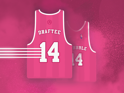 Two Dribbble Invites jersey basketball draft invites dribbble