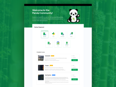 Panda Community Website bamboo green website panda