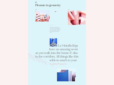LA MURALLA ROJA by Ricardo Bofill architecture minimal uidesign ui typography architecture website