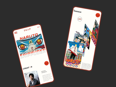 Shonen Jump redesign magazine mobile ui manga magazine design japanese japan app typography minimal uidesign ui
