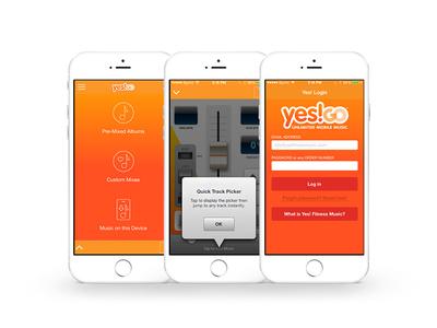 Yes! Fitness Music App Design