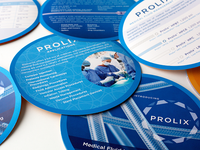 Double sided brochure with Spot UV