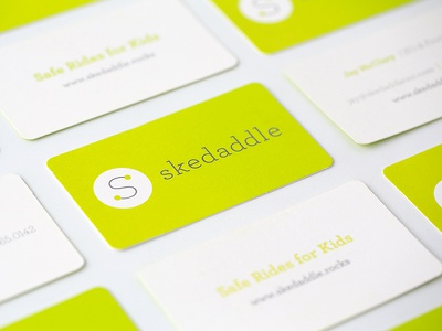 Skedaddle Business Cards visual identity vehicle design ui design slogans and tag lines signage printed material concepting brand strategy