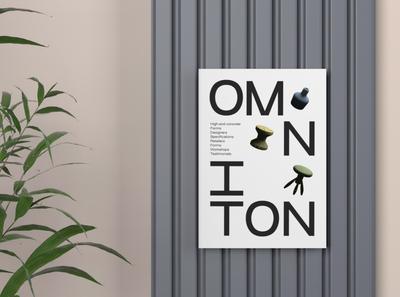 Omniton logo illustration banner typogaphy brand identity branding design