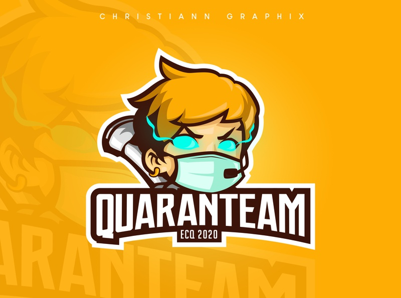 Quaranteam Logo vector illustration logo