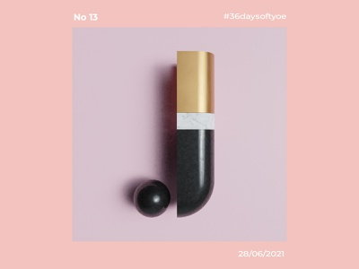 36 Days Of Type J il typography design illustration graphic design 3d