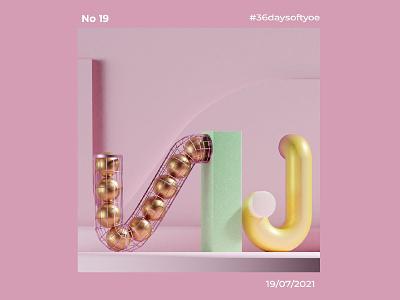 36 Days Of Type NJ il typography design illustration graphic design 3d