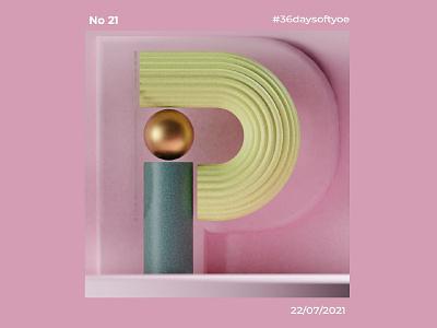 36 Days Of Type P il typography design illustration graphic design 3d
