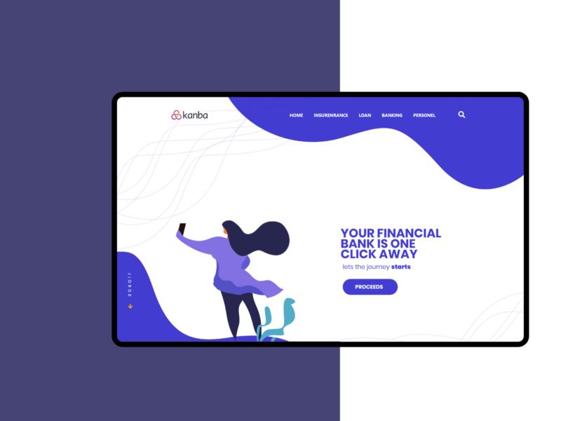 illustrative design ui illustration banking website web design herobanner websites new2020 webapp homepage landingpage