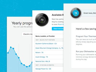 MyEnergy App Updates web ui chart table nest blue light app