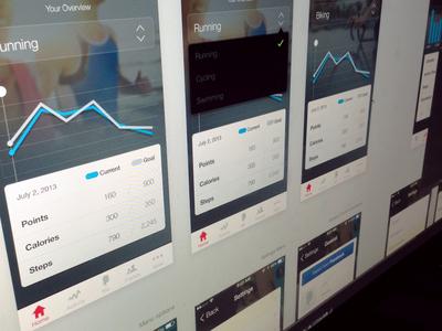 iPhone App Presentation - w/ iOS7 prep iphone app design presentation charts toggle ios7