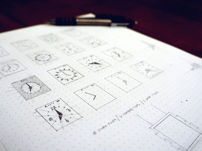 Early UI Sketches 2 sketch watch ui interface watch faces analog