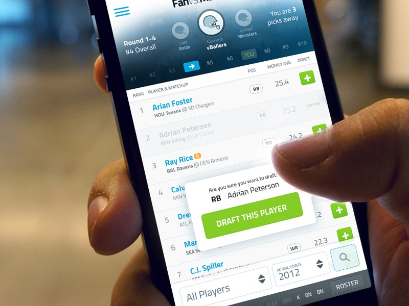 Fantasy Football Weekly Draft iphone ios app fantasy football draft