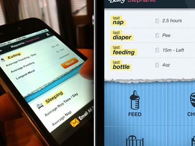 iPhone App UI app table ui iphone ios blue white data baby