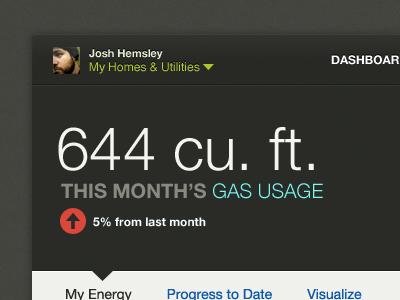 Realigning a bit dashboard stats usage energy dark gray app application