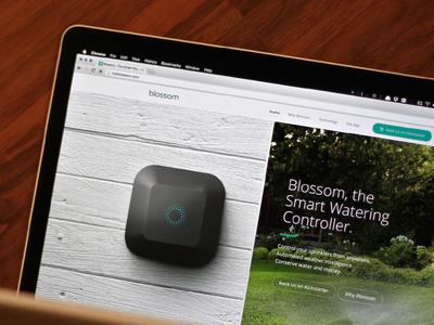 Blossom Website - MyBlossom.com website smart home smart sprinklers connected home hardware kickstarter
