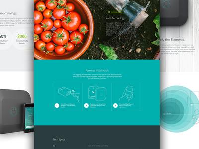 MyBlossom.com Interior Pages website interior page color clean simple smart home hardware explainer landing kickstarter