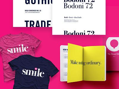 Payoff + Joy Brand rebrand smile joy payoff pink branding