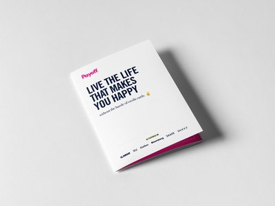 Payoff Direct Mail advertising clean minimal a5 tri-fold print mail payoff direct mail