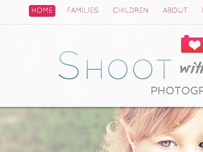 Shoot With Love photography linen heart cute girly kids photo