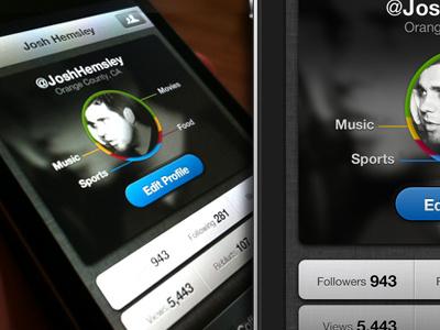 Profile Makeup - iPhone profile iphone app dark