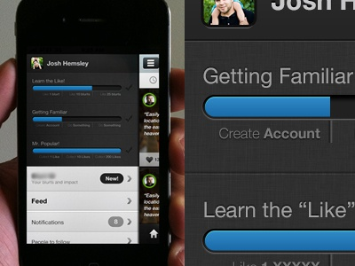 Iphone Side Progress and Nav progress bar nav app iphone blue linen