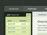 Dashboard - Add Training