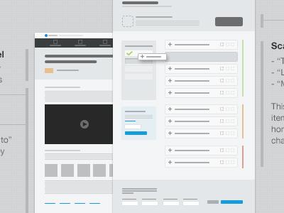 Process Testing - Blueprints wireframes thumbnails