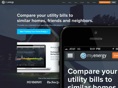 MyEnergy.com Facelift #Energy #Design myenergy home energy utility bills homepage mobile home energy redesign