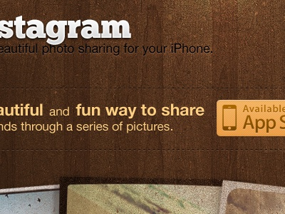 Instagram Procrastination  instagram redesign photos wood app