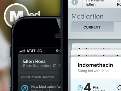 Redesigning Medical Health Records pt. 2 data mobile charts medical health design challenge health records