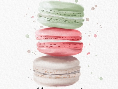 Procreate Watercolor drawing Macaroons watercolor procreate illustration applepencil