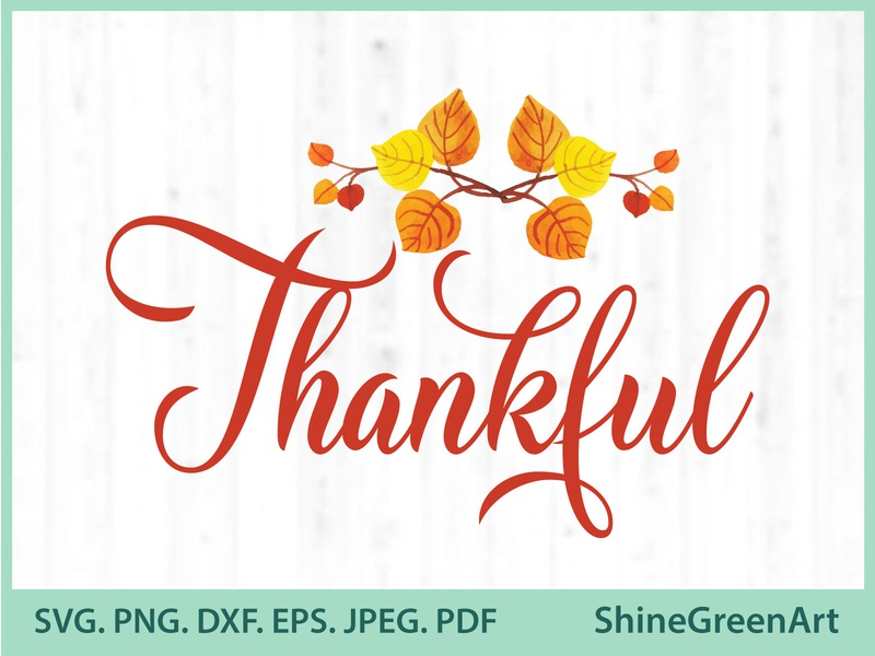 Thankful Oak Leaves  SVG illustration art shirt design designer portfolio shirtdesign graphic design vector illustration illustration