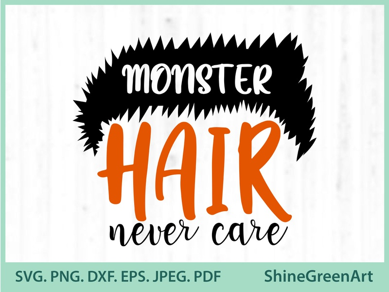 Monster Hair Halloween SVG halloween graphic design illustration art shirt design designer portfolio vector illustration illustration