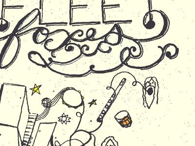 Fleetfoxes2 concert poster fleet foxes