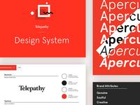 Telepathy Rebrand & Design System