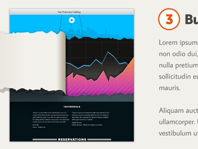 Insights tear graph ui homepage ux