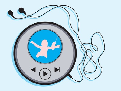 90's to Now vector simple ipod audio player discman ui daily ui