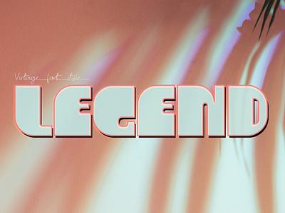 LEGEND font vintage font logo design casual font design